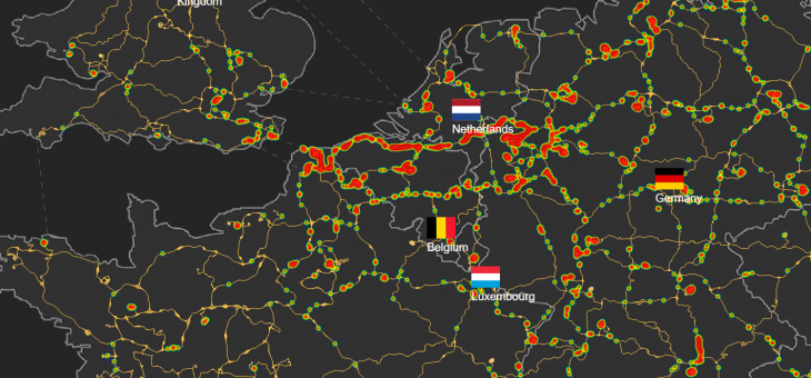 Roads heatmap now available in the map